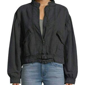 Free People Poet Moto jacket Black NWT